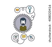 social media design    Shutterstock .eps vector #408020416