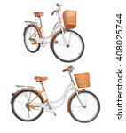 bicycle isolated on white | Shutterstock . vector #408025744