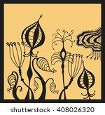 fantastic beautiful flowers on... | Shutterstock .eps vector #408026320