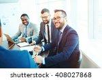 businessmen laughing | Shutterstock . vector #408027868