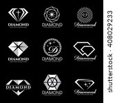 diamond logo vector set and... | Shutterstock .eps vector #408029233
