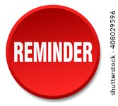 reminder red round flat... | Shutterstock .eps vector #408029596