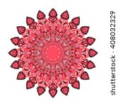 round mandala. arabic  indian ... | Shutterstock . vector #408032329