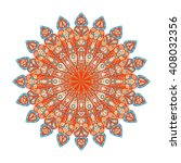 round mandala. arabic  indian ... | Shutterstock . vector #408032356