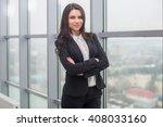 young beautiful business woman... | Shutterstock . vector #408033160