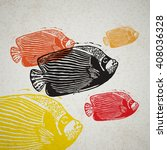 vector emperor angelfish in... | Shutterstock .eps vector #408036328