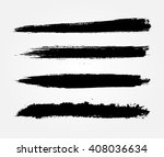 hand painted brush strokes... | Shutterstock .eps vector #408036634