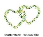 watercolor yellow flower and... | Shutterstock . vector #408039580