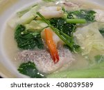 seafood and vegetable soup... | Shutterstock . vector #408039589