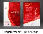 abstract vector modern flyers... | Shutterstock .eps vector #408040534