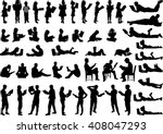 Silhouettes Of People With A...