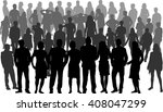 group of people. crowd of... | Shutterstock .eps vector #408047299