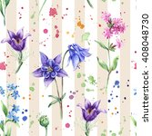 seamless floral pattern with... | Shutterstock . vector #408048730