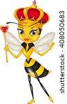 cartoon queen bee isolated on...   Shutterstock .eps vector #408050683
