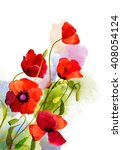 watercolor card with beautiful... | Shutterstock . vector #408054124