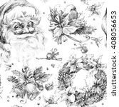 Santa Clause Seamless Pattern....