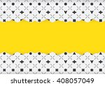 abstract color pattern frame | Shutterstock .eps vector #408057049