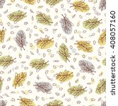 olive branches vector seamless... | Shutterstock .eps vector #408057160