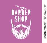 vector hipster barber shop logo ... | Shutterstock .eps vector #408060349
