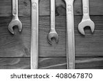 set of wrenches. wrenches in... | Shutterstock . vector #408067870
