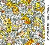 cartoon hand drawn picnic... | Shutterstock .eps vector #408070078