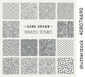 set of hand drawn marker and... | Shutterstock .eps vector #408076690