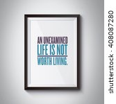 inspiration quote on photo frame | Shutterstock . vector #408087280