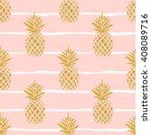 Seamless Summer Gold Pineapple...
