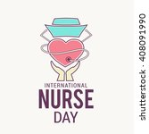 illustration of nurse day with... | Shutterstock .eps vector #408091990