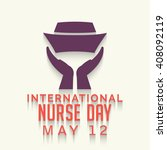 illustration of nurse day with... | Shutterstock .eps vector #408092119