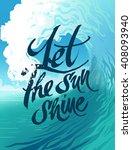 summer vector poster sea wave | Shutterstock .eps vector #408093940