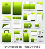 corporate identity template set.... | Shutterstock .eps vector #408094459