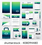 corporate identity template set.... | Shutterstock .eps vector #408094480
