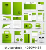 corporate identity template set.... | Shutterstock .eps vector #408094489