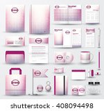 corporate identity template set ... | Shutterstock .eps vector #408094498