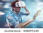 virtual reality glasses | Shutterstock . vector #408095140