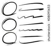 vector hand drawn marker... | Shutterstock .eps vector #408095653