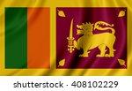 sri lanka flag | Shutterstock . vector #408102229