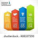 vector 3d arrows stairs... | Shutterstock .eps vector #408107350