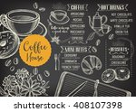 coffee restaurant brochure... | Shutterstock .eps vector #408107398