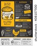 restaurant brochure vector ... | Shutterstock .eps vector #408107500