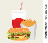 raster illustration lunch with...   Shutterstock . vector #408109468