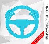 driver. flat icon of driver on... | Shutterstock .eps vector #408111988