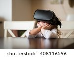 child with virtual reality... | Shutterstock . vector #408116596