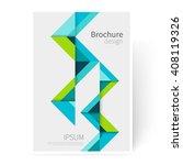brochure  leaflet  flyer  cover ... | Shutterstock .eps vector #408119326