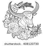 doodle and zentangle style ... | Shutterstock .eps vector #408120730