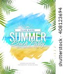summer beach party template ... | Shutterstock .eps vector #408123694