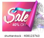 fantastic sale poster  sale...   Shutterstock .eps vector #408123763