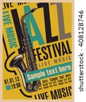 poster for the jazz festival... | Shutterstock .eps vector #408128746