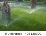 Watering The Lawn